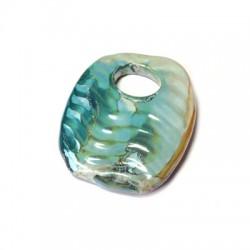 Ciondolo in Ceramica Smaltata 45x58mm (Ø 15.2mm)