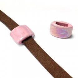 Κεραμική Χάντρα Πλακέ με Σμάλτο 20x15mm/8mm (Ø10.2x3.2mm)