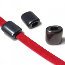Κεραμική Χάντρα Πλακέ με Σμάλτο 15x12mm (Ø5.2x3.2mm)