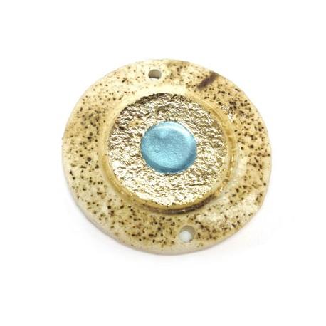 Κεραμικό Στοιχείο Μάτι Στρογγυλό με Σμάλτο με 2 Τρύπες 53mm
