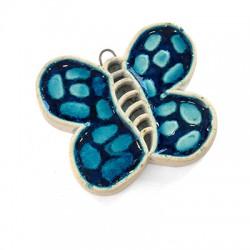 Ceramic Enamelled Pendant Butterfly 56x47mm