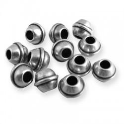 Perle en Métal/Laiton, 7x5.3mm (Ø 3.2mm)