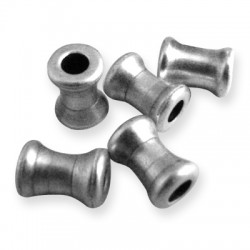 Μεταλλική Μπρούτζινη Χάντρα Σωληνάκι 6x8.2mm (Ø2.8mm)