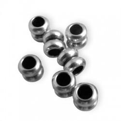 Rondelle Double en Métal/Laiton, 5x5.3mm (Ø 2.6mm)