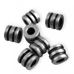 Rondelle Triple en Métal/Laiton, 5x4.3mm (Ø 2.6mm)