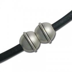 Brass Ball Magnetic Clasp 12x9mm (Ø 4mm)