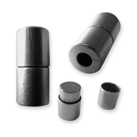 Fermoir Aimanté en Métal/Laiton, 10x21mm (Ø 5mm)