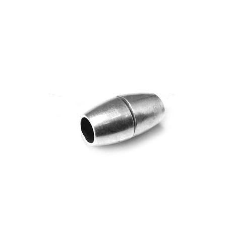 Fermoir Aimanté en Métal/Laiton, 9x8mm (Ø 5mm)