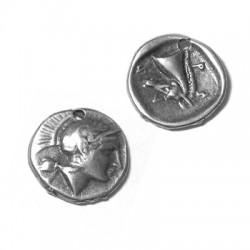 Μεταλλικό Ζάμακ Χυτό Μοτίφ Νόμισμα Μικρό 11mm