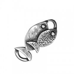 Μεταλλικό Μοτίφ 2 Ψάρια 38x21mm