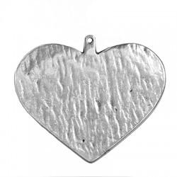 Zamak Pendant Heart 65x73mm