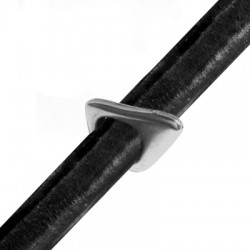 Passante in Zama per Cuoio Regaliz 21x14x2.5mm (Ø 10x8mm)