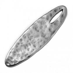 Ciondolo in Zama Ovale Martellato 51x14mm