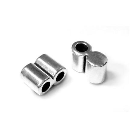 Μεταλλικός Ζάμακ Χυτός Ακροδέκτης Διπλός 22x10mm (Ø8.2mm)