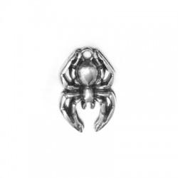 Pendentif Araignée en Métal/Zamak 15x22mm