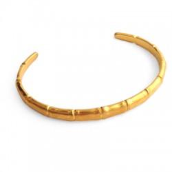 Zamak Bamboo Style Bracelet 150x6mm