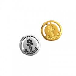 Médaille avec ancre en Métal/Zamak 18mm
