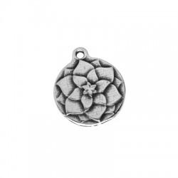 Μεταλλικό Ζάμακ Χυτό Μοτίφ Στρογγυλό Λουλούδι 18mm