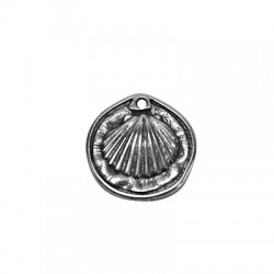 Μεταλλικό Ζάμακ Χυτό Μοτίφ Στρογγυλό Αχιβάδα (~27mm)