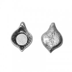 Zamak Charm Leaf 18x25mm (Ø 2mm)