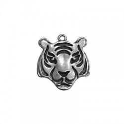 Zamak Pendant Tiger Head 31x33mm