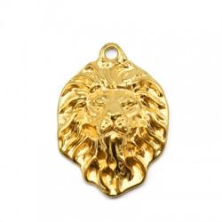 Zamak Pendant Lion Head 26x33mm