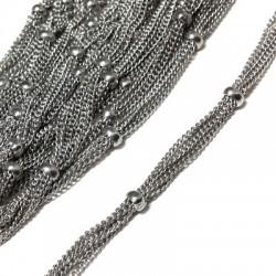 Steel Chain 5pcs 8mm (Bead 3.8mm)