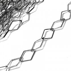 Brass Chain Rhombus 9.5x16.5mm