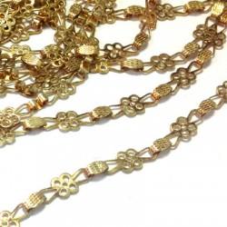 Brass Chain Flower