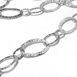Brass Chain Oval 3 Rings42+29+19mm