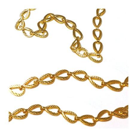 Brass Drop Chain 10x5mm