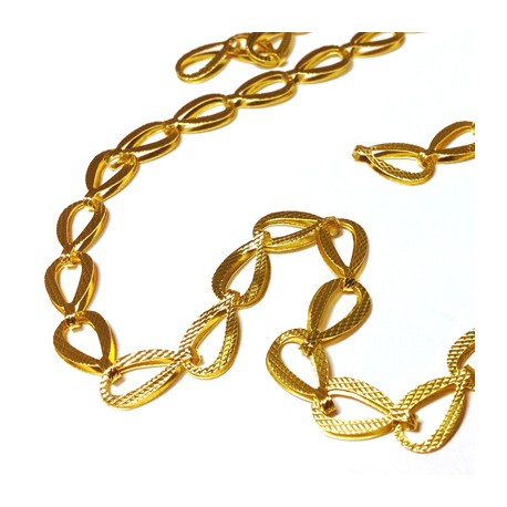 Brass Drop Chain 15x8mm
