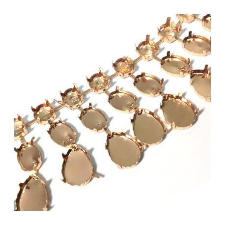 Brass Setting Chain (Circle 10mm  Oval 10x14mm  Drop 13x18mm)