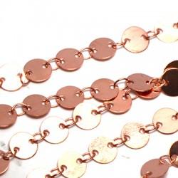 Brass Link Chain Round 6mm