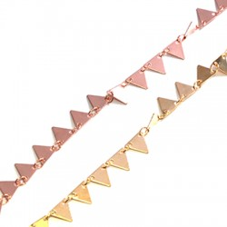 Brass Chain w/ Triangles 6.7x7.5mm/0.3mm