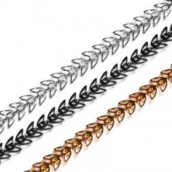Brass Chain w/ Leaves 6.8x6.3mm/0.6mm