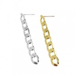 Brass Earring w/ Chain 7x46mm