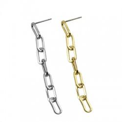 Brass Earring w/ Chain 5x54mm