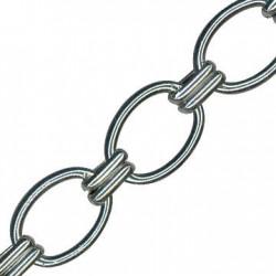 Aluminium Chain Oval+2 25x35mm