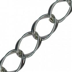 Aluminium Chain Oval Twisted 30x25mm