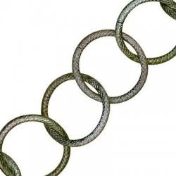 Catena in Alluminio a Cerchi Rotondi (Spessore 3.1mm x 31pz)