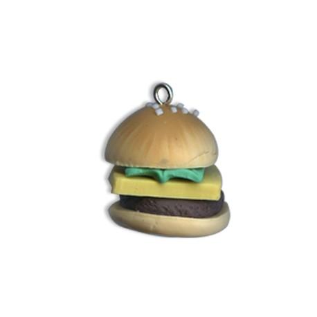 Charm in Pasta di Fimo Hamburger