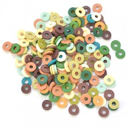 Polymer Clay Washer Heishi ~4mm (~500pcs/pack)