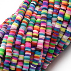 Polymer Clay Washer Heishi ~4mm (~324pcs/pack)