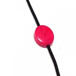 Passante Ovale in Corozo (Tagua) 13x15.5mm