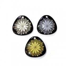 Πολυεστερικό Μοτίφ Τρίγωνο Λουλούδια 28mm