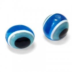 Perlina Ovale in Resina con Occhio 10x13mm