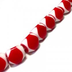 Perlina Quadrata in Resina 15mm (40 pz/filo)
