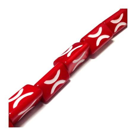 Πολυεστερική Χάντρα Τργωνική 15x25mm (~20τμχ/κορδόνι)