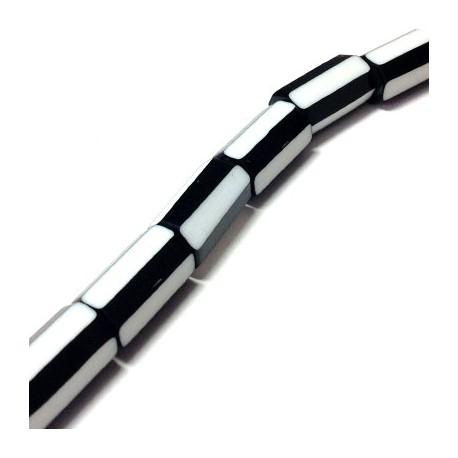 Πολυεστερική Χάντρα Σωλήνας 12x23mm (~20τμχ/κορδόνι)